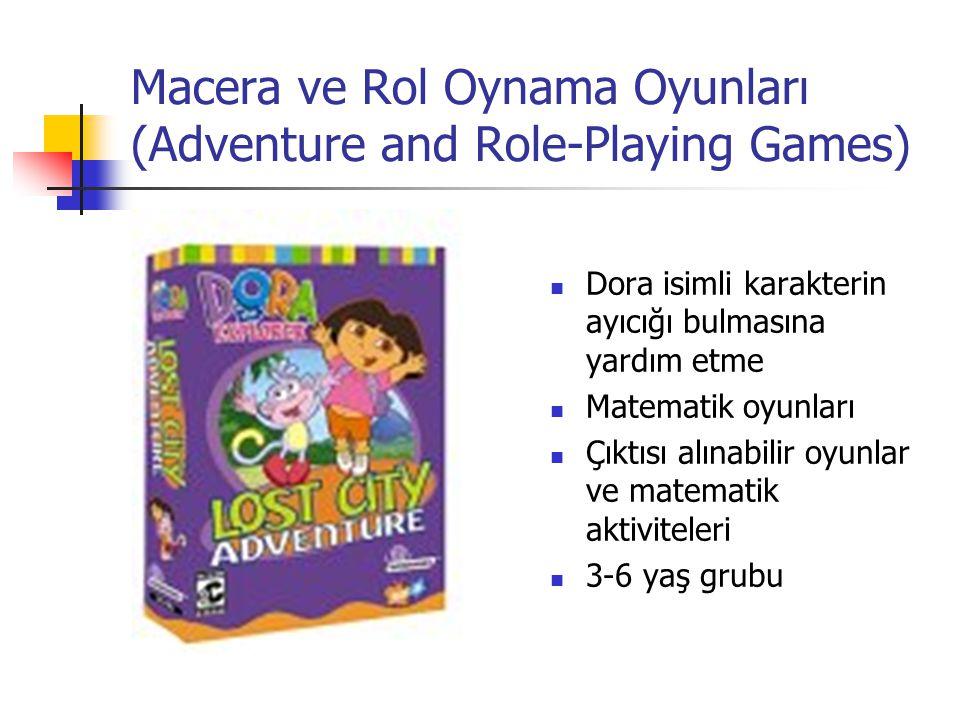 Macera ve Rol Oynama Oyunları (Adventure and Role-Playing Games) Dora isimli karakterin ayıcığı bulmasına yardım etme Matematik oyunları Çıktısı alına