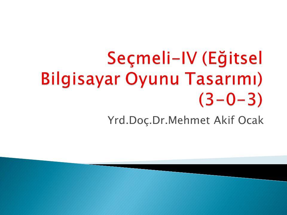 Yrd.Doç.Dr.Mehmet Akif Ocak