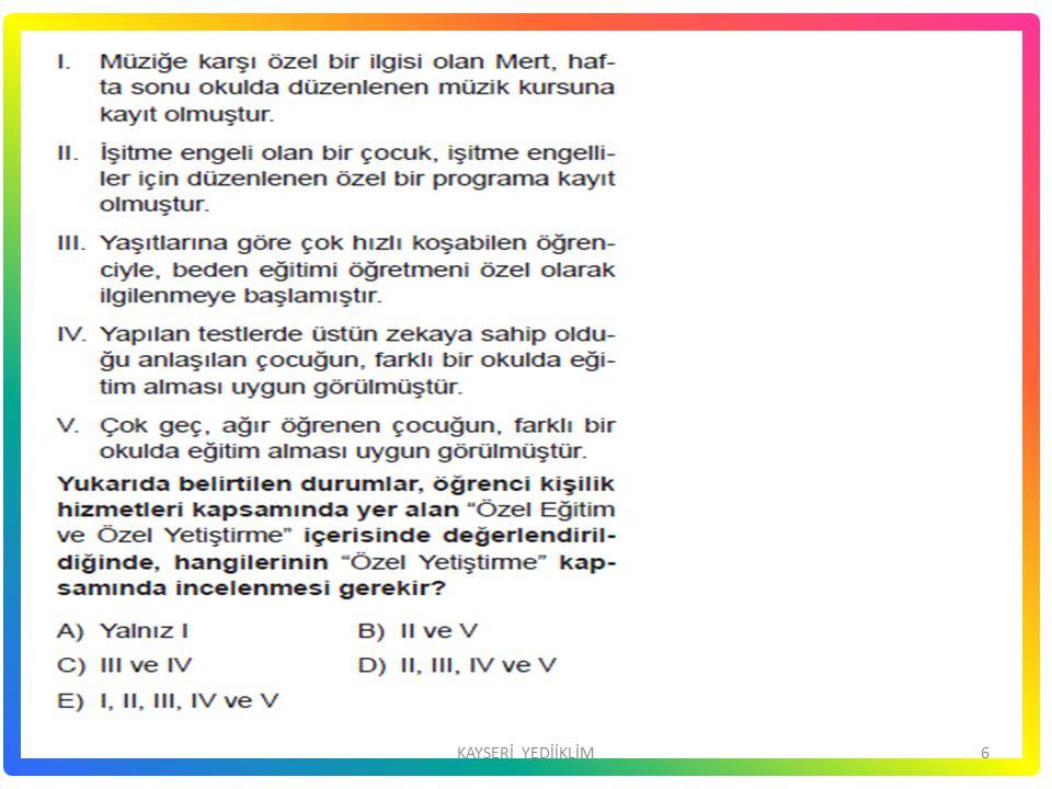 17KAYSERİ YEDİİKLİM