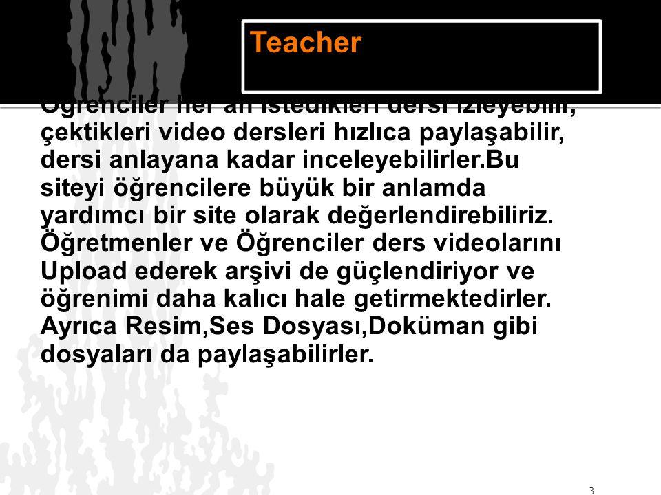 İleriki öğretmenlik yaşamımızda; Öğretmenlere ve Öğretmen adaylarına çok büyük bir kolaylık sağlayacağını düşünüyorum.Öğretmenler burada ders videolarını paylaşabilirler ve öğrenciler de evlerinde öğrenime devam edebilirler.