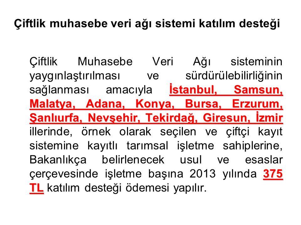 Çiftlik muhasebe veri ağı sistemi katılım desteği İstanbul, Samsun, Malatya, Adana, Konya, Bursa, Erzurum, Şanlıurfa, Nevşehir, Tekirdağ, Giresun, İzm