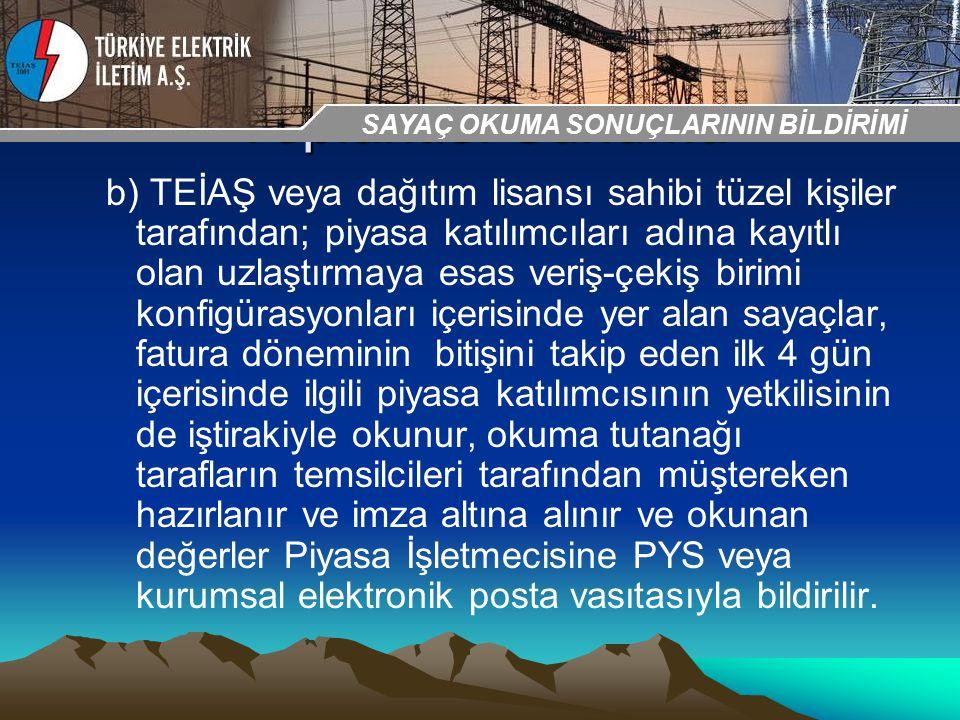 30-31 Ekim 2009 OSB İstanbul Toplantısı Sunumu b) TEİAŞ veya dağıtım lisansı sahibi tüzel kişiler tarafından; piyasa katılımcıları adına kayıtlı olan