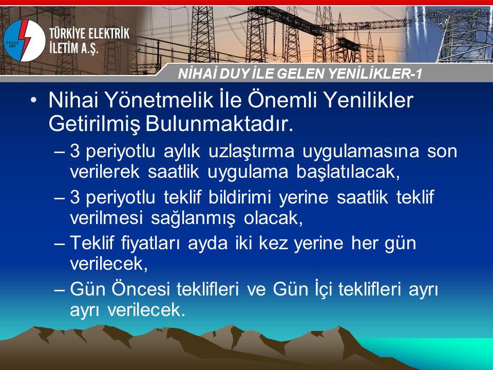 30-31 Ekim 2009 OSB İstanbul Toplantısı Sunumu Nihai Yönetmelik İle Önemli Yenilikler Getirilmiş Bulunmaktadır. –3 periyotlu aylık uzlaştırma uygulama