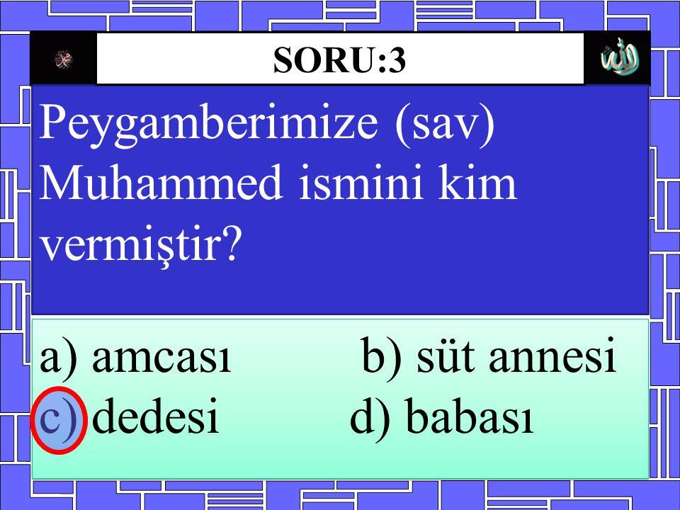 Peygamberimize (sav) Muhammed ismini kim vermiştir.