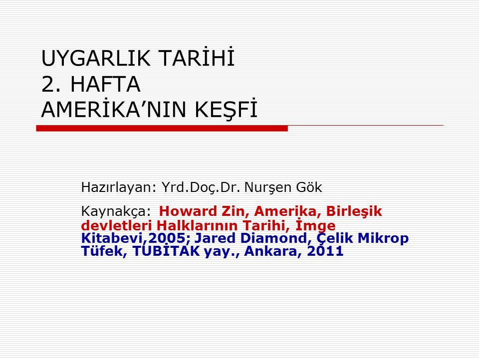 UYGARLIK TARİHİ 2.HAFTA AMERİKA'NIN KEŞFİ Hazırlayan: Yrd.Doç.Dr.