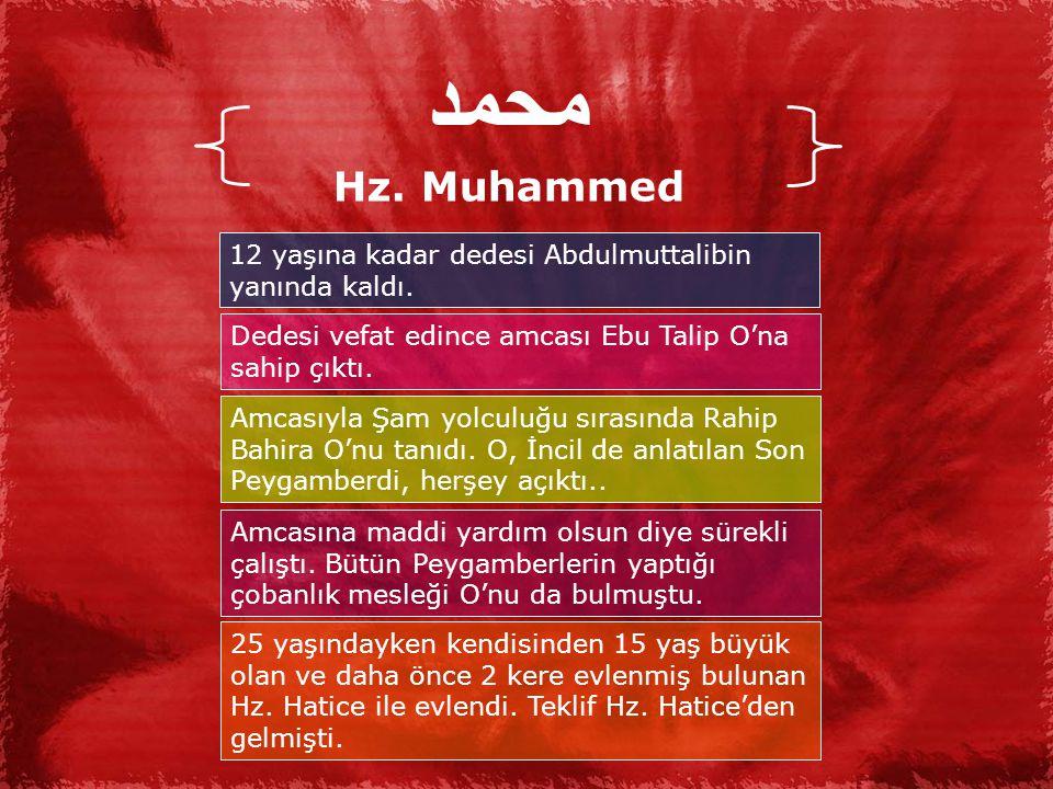 محمد Hz.Muhammed 12 yaşına kadar dedesi Abdulmuttalibin yanında kaldı.