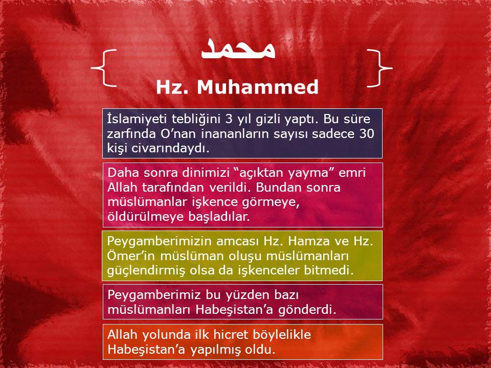 محمد Hz.Muhammed İslamiyeti tebliğini 3 yıl gizli yaptı.