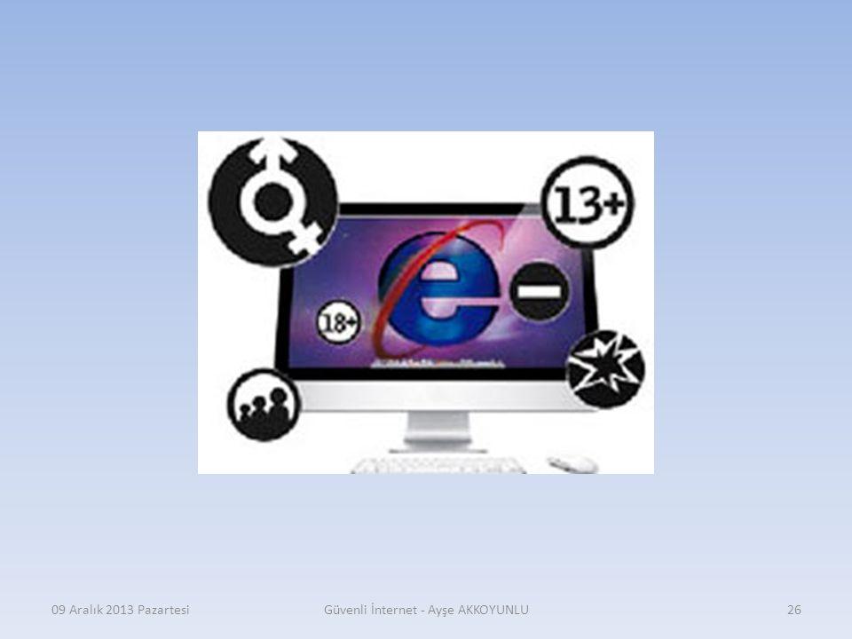 09 Aralık 2013 PazartesiGüvenli İnternet - Ayşe AKKOYUNLU25