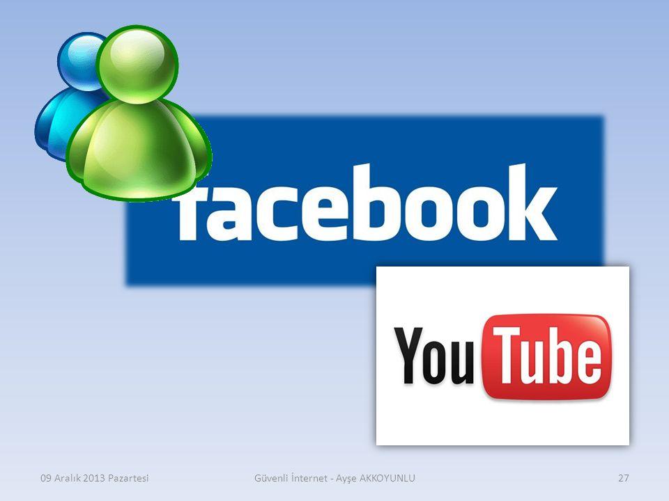 09 Aralık 2013 PazartesiGüvenli İnternet - Ayşe AKKOYUNLU26
