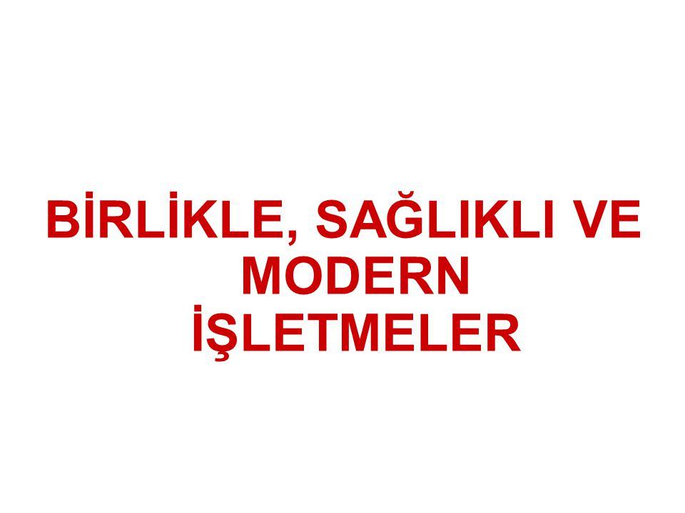 BİRLİKLE, SAĞLIKLI VE MODERN İŞLETMELER