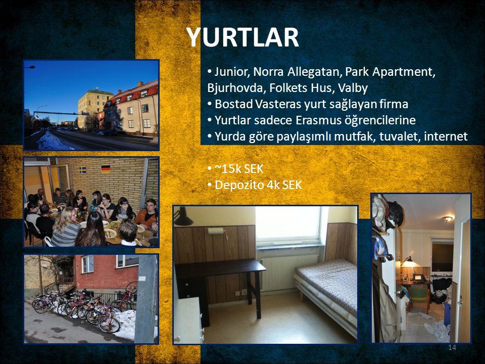 YURTLAR Junior, Norra Allegatan, Park Apartment, Bjurhovda, Folkets Hus, Valby Bostad Vasteras yurt sağlayan firma Yurtlar sadece Erasmus öğrencilerin