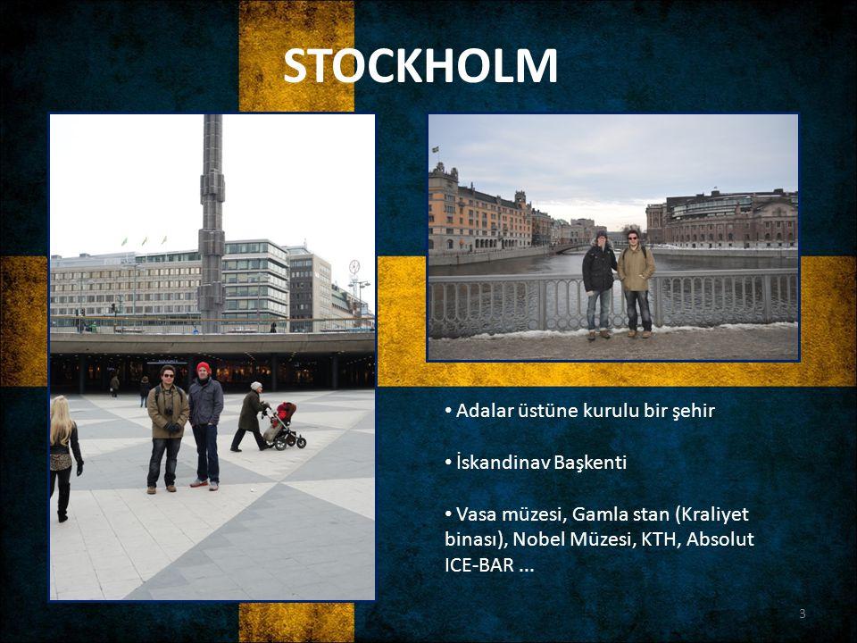 STOCKHOLM Adalar üstüne kurulu bir şehir İskandinav Başkenti Vasa müzesi, Gamla stan (Kraliyet binası), Nobel Müzesi, KTH, Absolut ICE-BAR... 3