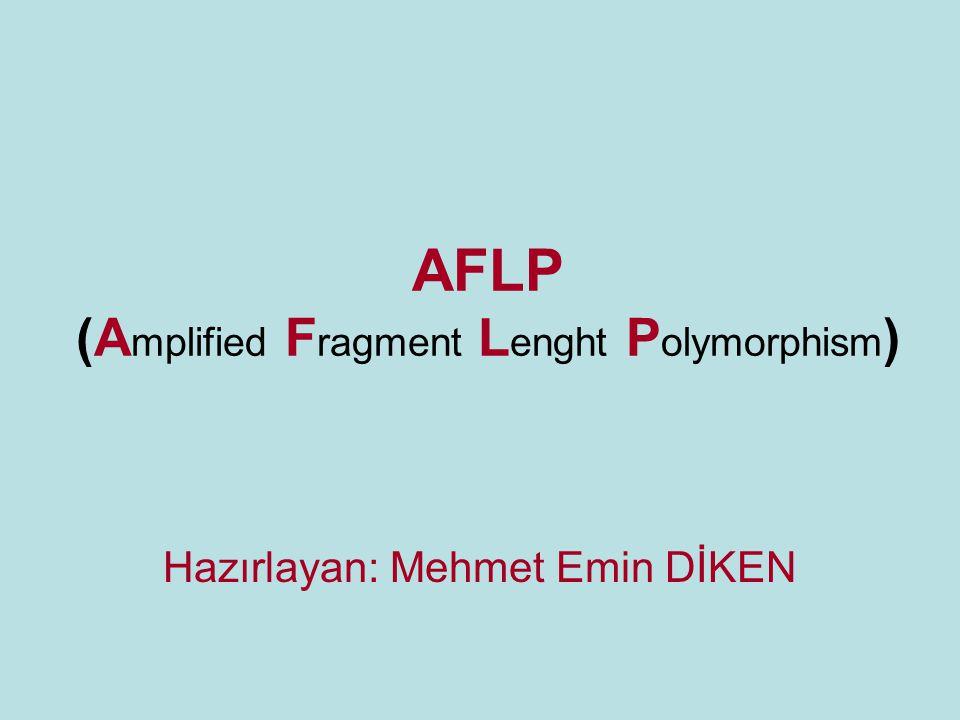 AFLP (A mplified F ragment L enght P olymorphism ) Hazırlayan: Mehmet Emin DİKEN