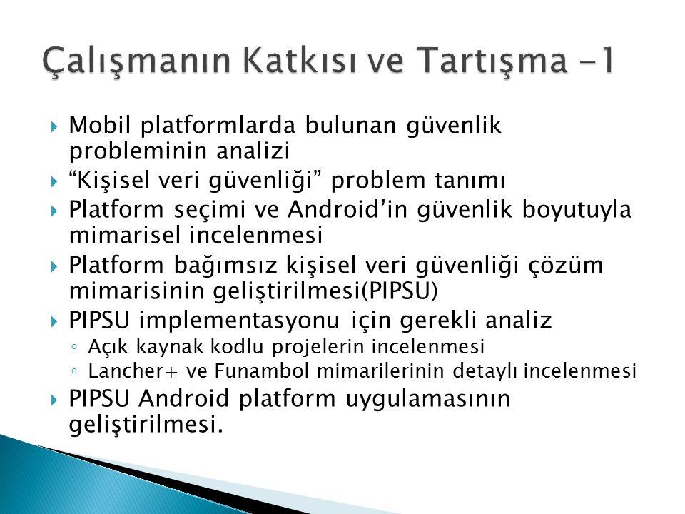 """ Mobil platformlarda bulunan güvenlik probleminin analizi  """"Kişisel veri güvenliği"""" problem tanımı  Platform seçimi ve Android'in güvenlik boyutuyl"""