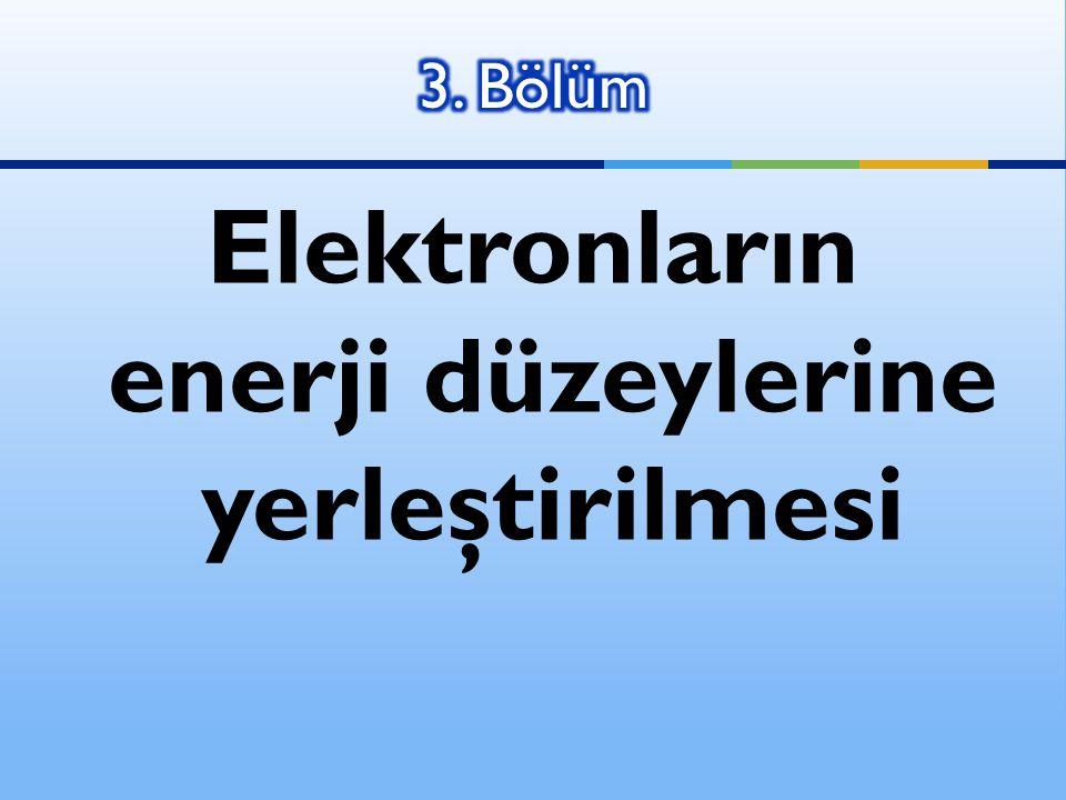 Elektronların enerji düzeylerine yerleştirilmesi