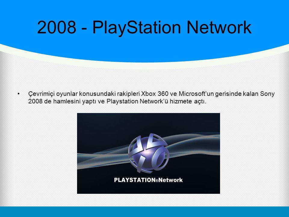 2008 - PlayStation Network Çevrimiçi oyunlar konusundaki rakipleri Xbox 360 ve Microsoft'un gerisinde kalan Sony 2008 de hamlesini yaptı ve Playstatio