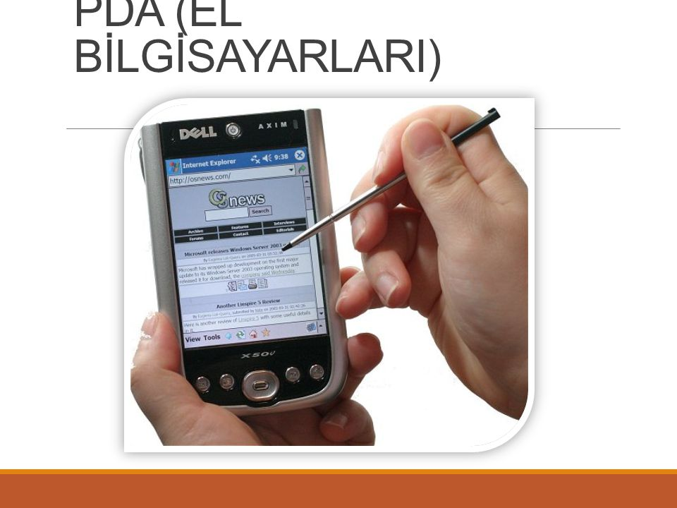 PDA (EL BİLGİSAYARLARI)