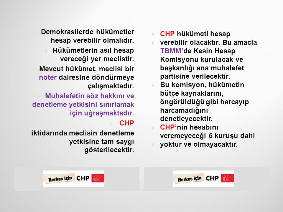 29  Parlamentoda,  başkanlığını ana  muhalefetin yapacağı  Kesin Hesap Komisyonu  kurulacak, muhalefetin  iktidardan hesap  sorması sağlanacak.