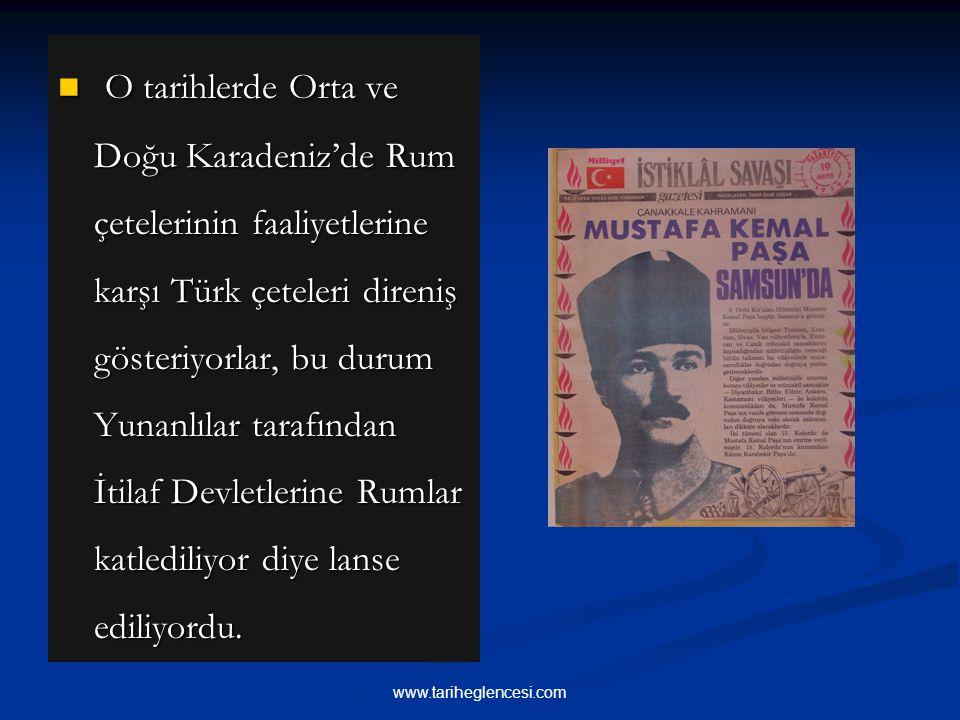 12 Haziran 'da Amasya'ya gelen Mustafa Kemal 22 Haziran' da Rauf Orbay, Ali Fuat ve Refet beylerle birlikte Amasya Tamimi'ni hazırladı.
