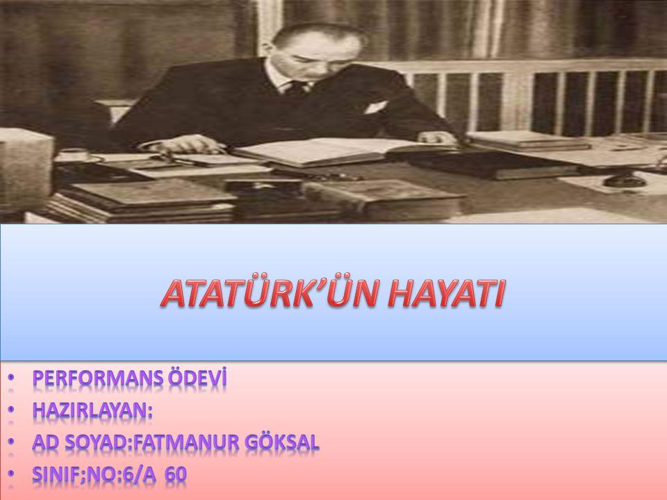 Atatürk, kitap okumayı, müzik dinlemeyi, yüzmeyi, ata binmeyi ve dans etmeyi çok severdi.