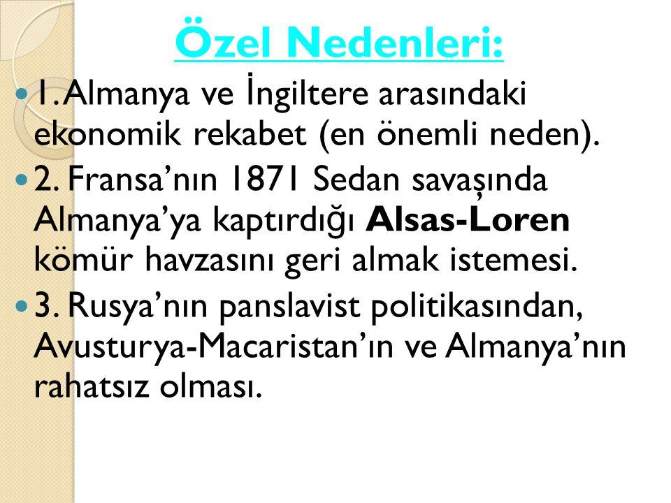 Savaşa Giriş: Alman, Goben ve Breslav isimli savaş gemileri İ ngiliz donanmasından kaçarak Osmanlı'ya sı ğ ındı.
