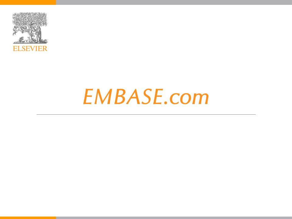 EMBASE.com February 2006 2 MEDLINE yaklaşık 2.000 dergi EMBASE.com Elsevier'in EMBASE ve MEDLINE için web ortamıdır EMBASE, 5.000 dergi, yaklaşık 2.000 benzersiz Kesişen 3.000 dergi Nedir.