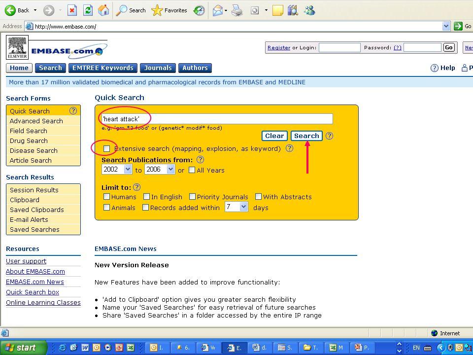 EMBASE.com February 2006 11