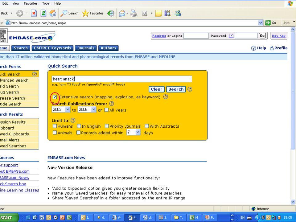 EMBASE.com February 2006 13
