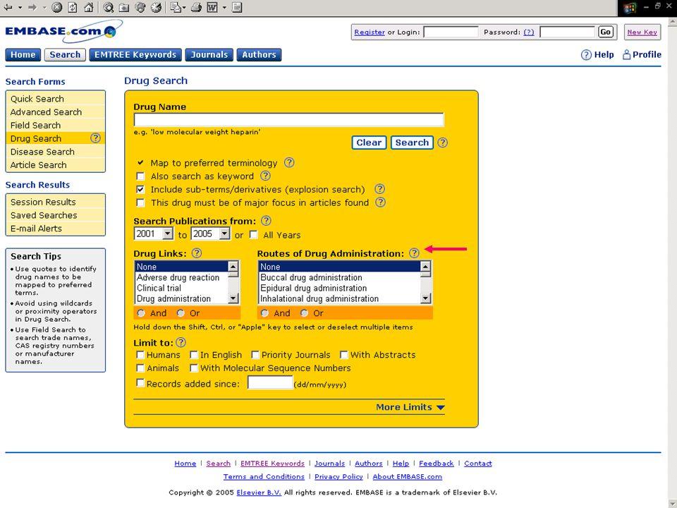 EMBASE.com February 2006 39