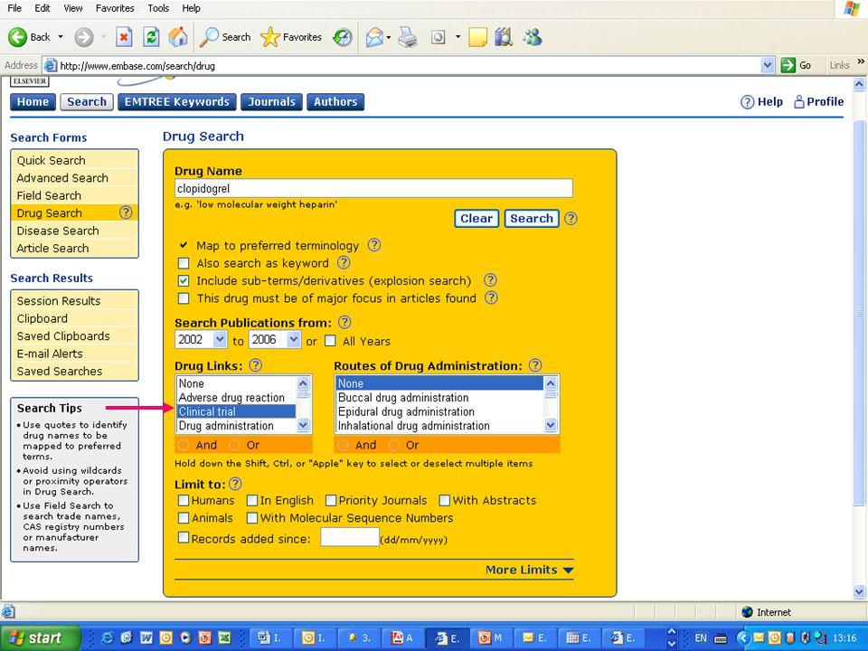 EMBASE.com February 2006 42