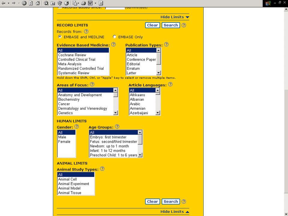 EMBASE.com February 2006 49