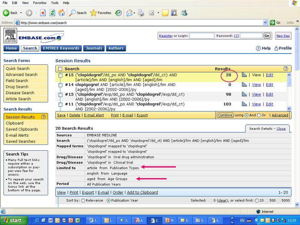 EMBASE.com February 2006 51