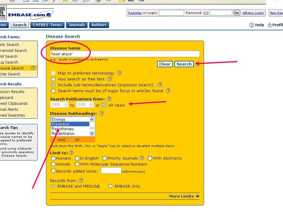 EMBASE.com February 2006 56
