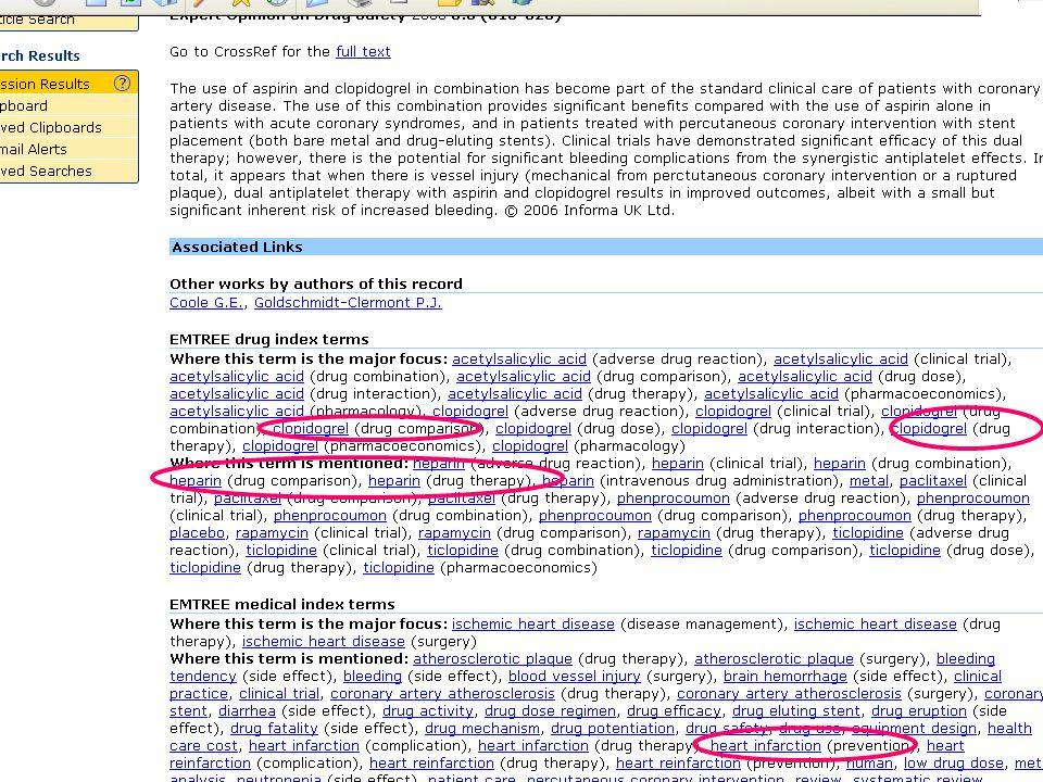 EMBASE.com February 2006 61