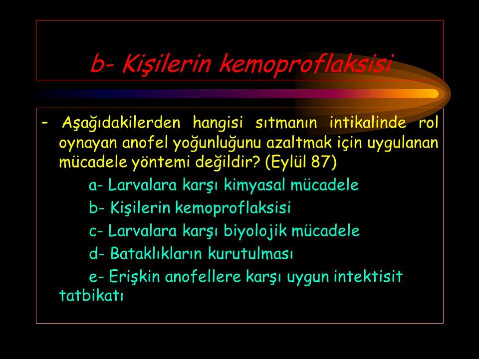 a- Bronkopnomoni - Türkiye'de bebek (sıfır yaş grubu) ölümüne en fazla neden olan hastalık aşağıdakilerden hangisidir? (Eylül 87) a- Bronkopnomoni b-