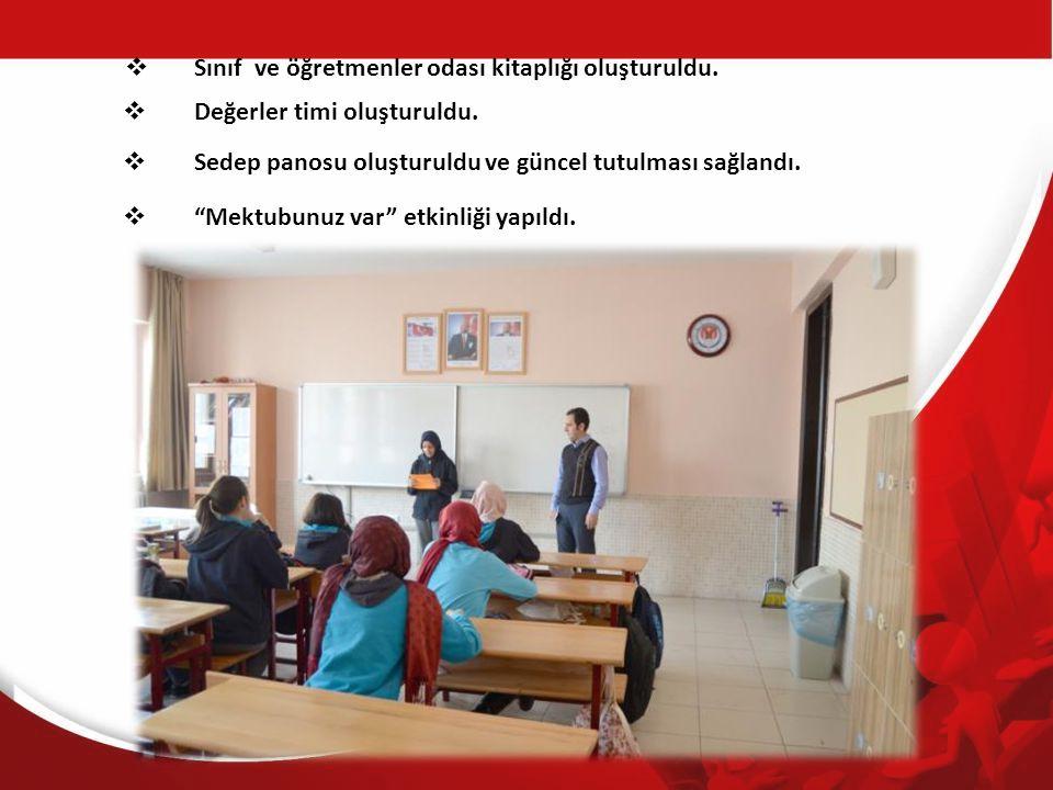 Sınıf ve öğretmenler odası kitaplığı oluşturuldu.