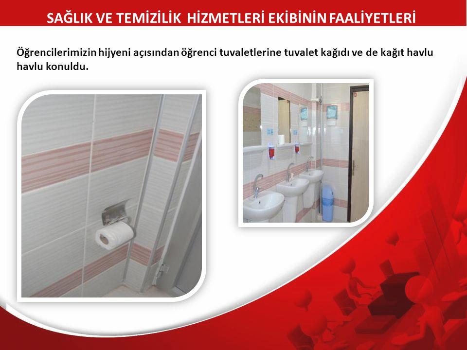 Öğrencilerimizin hijyeni açısından öğrenci tuvaletlerine tuvalet kağıdı ve de kağıt havlu havlu konuldu.
