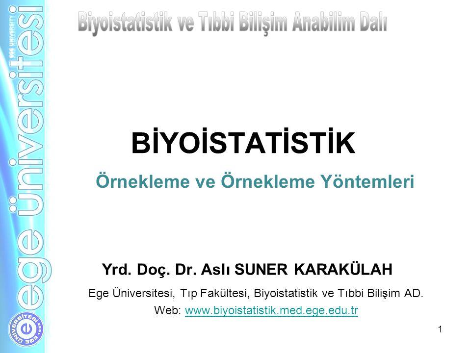 BİYOİSTATİSTİK Ege Üniversitesi, Tıp Fakültesi, Biyoistatistik ve Tıbbi Bilişim AD. Web: www.biyoistatistik.med.ege.edu.trwww.biyoistatistik.med.ege.e
