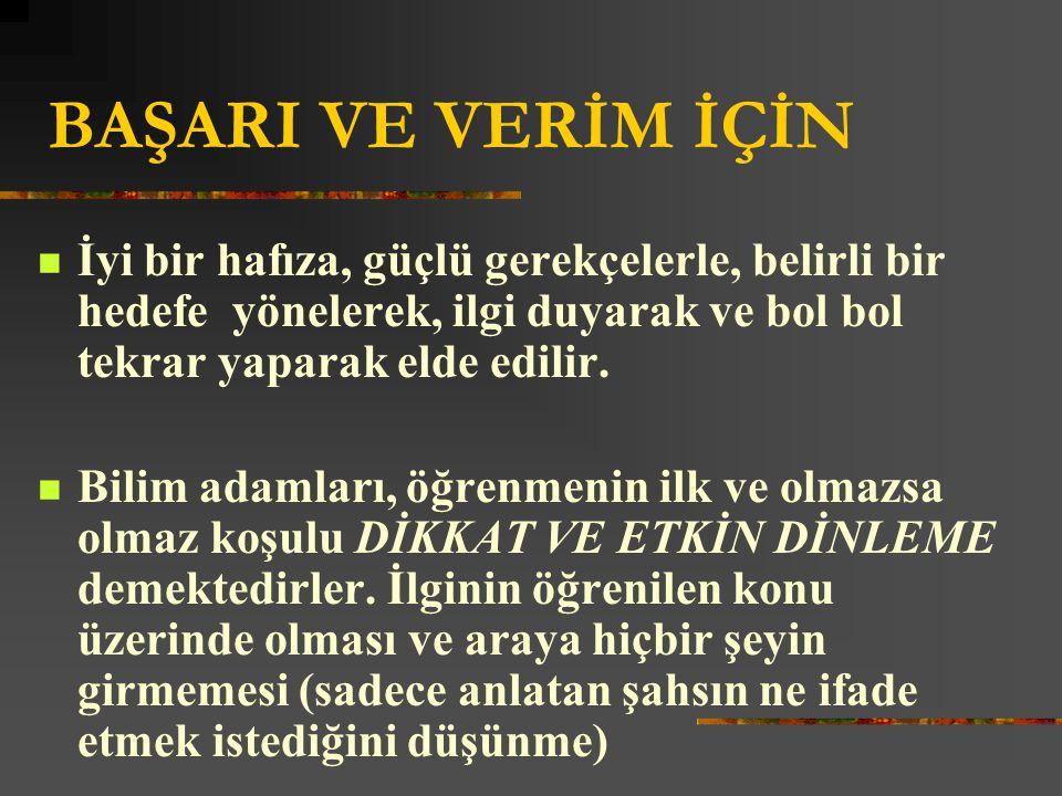 TEKRAR ETMEK YETERLİ Mİ.