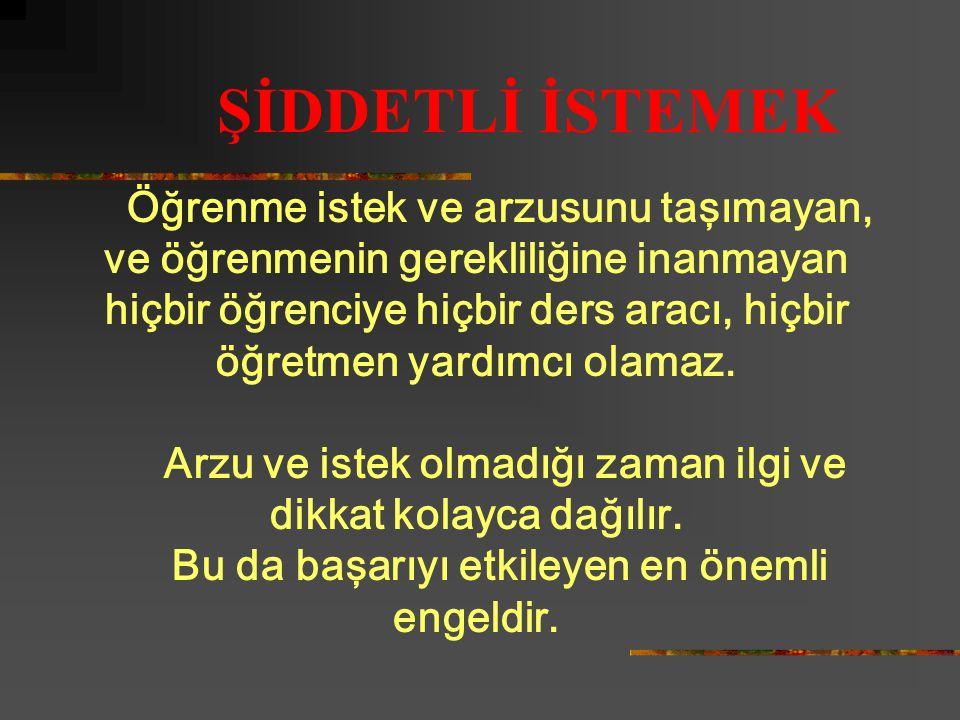 BAŞARMAK İSTİYORSANIZ BU ENGELLERİ YOLUNUZDAN KALDIRMALISINIZ!!!!!!!
