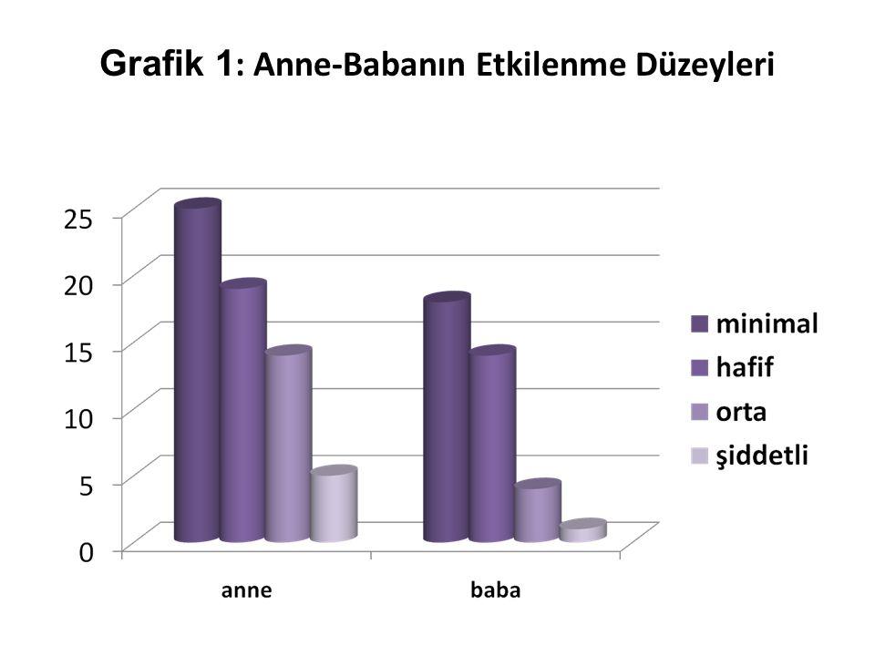 Grafik 1 : Anne-Babanın Etkilenme Düzeyleri