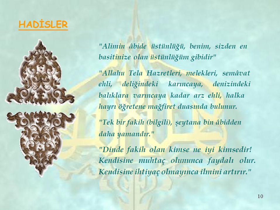 HADİSLER