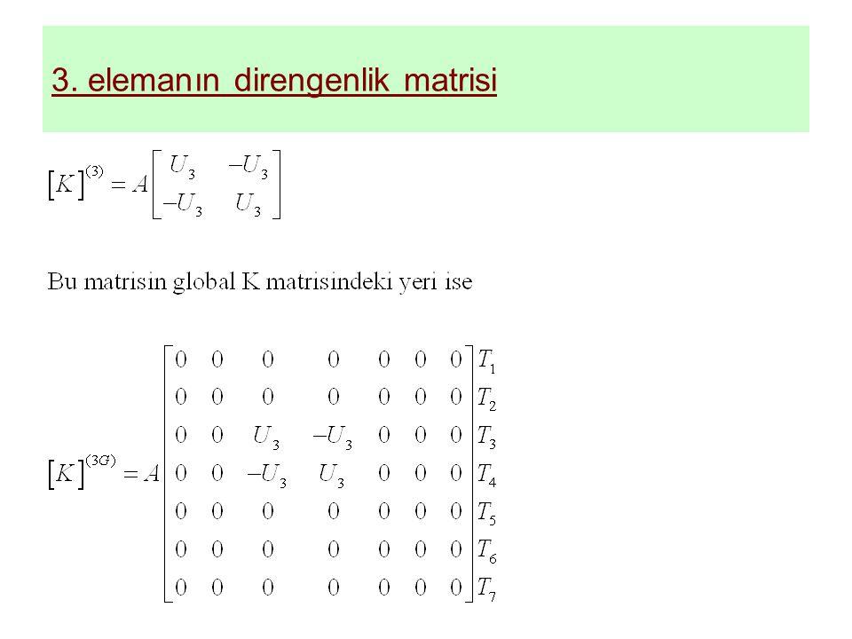3. elemanın direngenlik matrisi