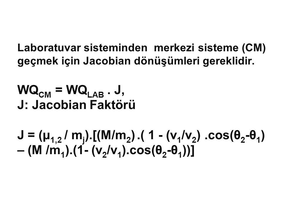Laboratuvar sisteminden merkezi sisteme (CM) geçmek için Jacobian dönüşümleri gereklidir.