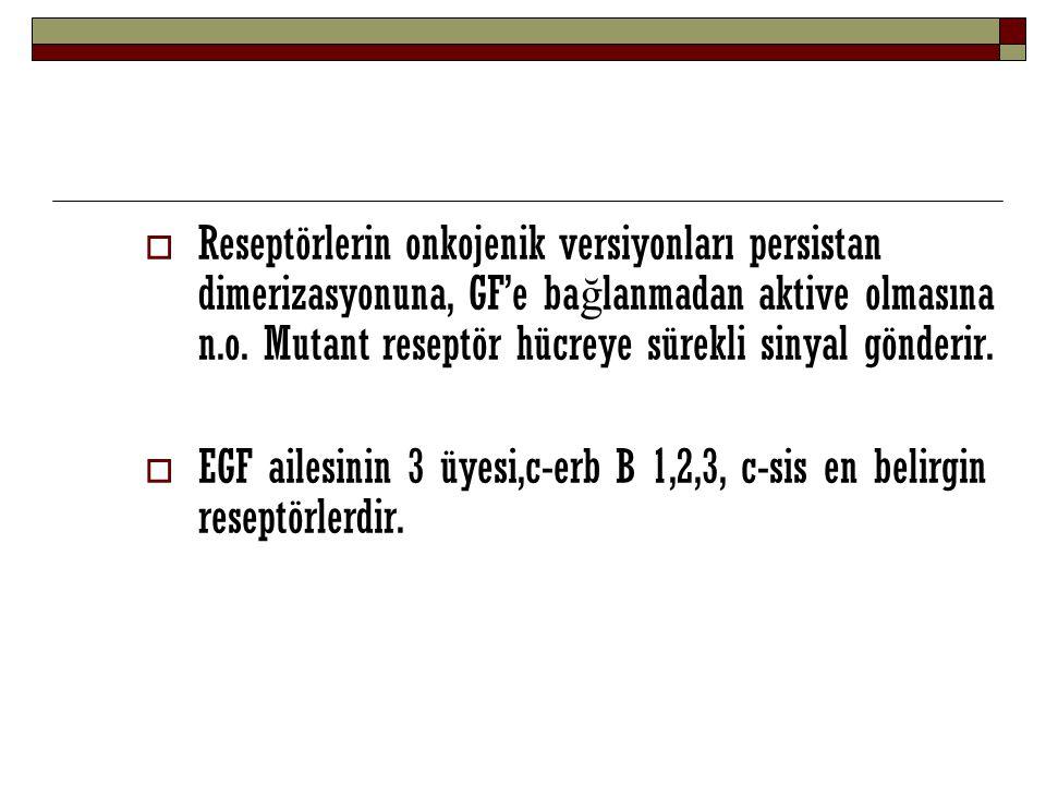  2) Sitoplazmada etkili olanlar  Sinyal Üretim Proteinleri  En iyi bilinen Ras ailesinden GTP ba ğ layan proteindir.