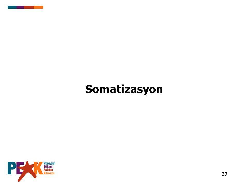 33 Somatizasyon
