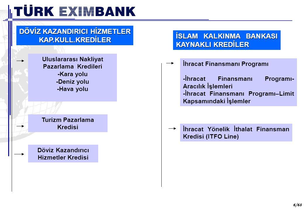 57 57/68 Uluslararası kurallara uyum ULUSLARARASI DÜZENLEMELERE UYGUNLUK ULUSLARARASI DÜZENLEMELERE UYGUNLUK Türkiye'nin, DTÖ ve OECD İhracat Kredi Grubu'na üyeliklerinden ve AB ile imzalanan Gümrük Birliği anlaşmasından kaynaklanan yükümlülükleri çerçevesinde, Türk Eximbank sigorta, garanti ve kredi programları uygulamalarında DTÖ, OECD ve AB'nin ilgili düzenlemelerini sürekli izleyerek, uluslararası normlara uygun hareket etmeye özen göstermektedir.