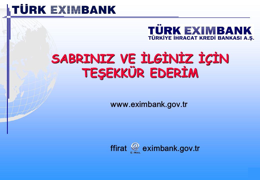 69 69/68 www.eximbank.gov.tr ffirateximbank.gov.tr SABRINIZ VE İLGİNİZ İÇİN TEŞEKKÜR EDERİM