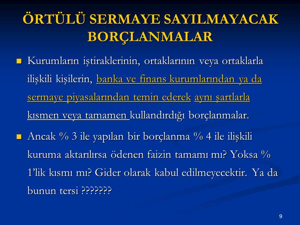 100 KIYMETİ DÜŞEN EMTİANIN DEĞERLEMESİ Vergi Usul Kanunu'nun 278.