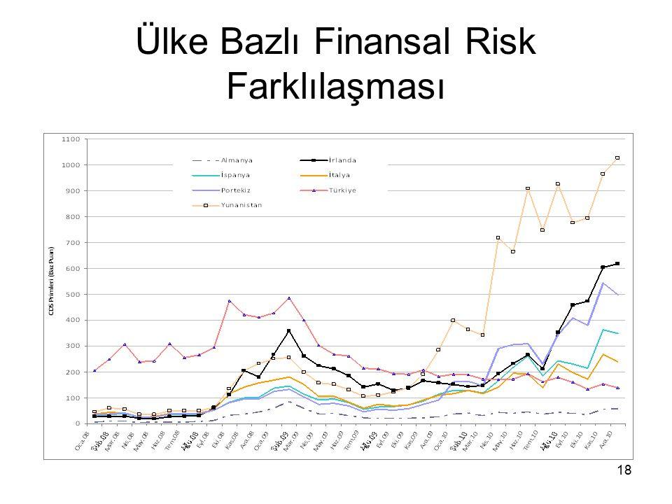 18 Ülke Bazlı Finansal Risk Farklılaşması